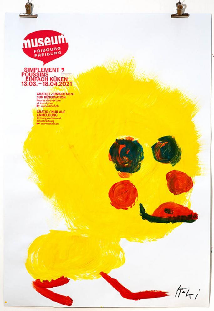 """Une des affiches de l'exposition """"Simplement Poussins""""_63"""