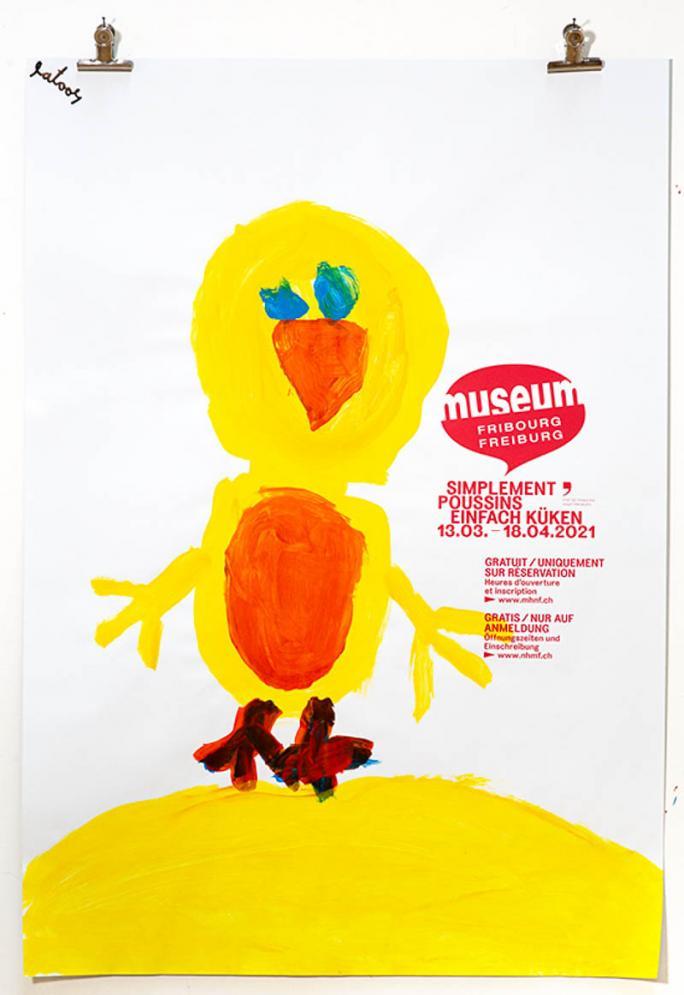 """Une des affiches de l'exposition """"Simplement Poussins""""_65"""