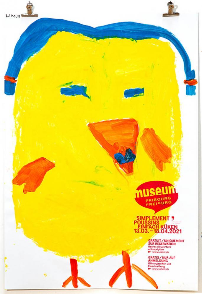 """Une des affiches de l'exposition """"Simplement Poussins""""_68"""