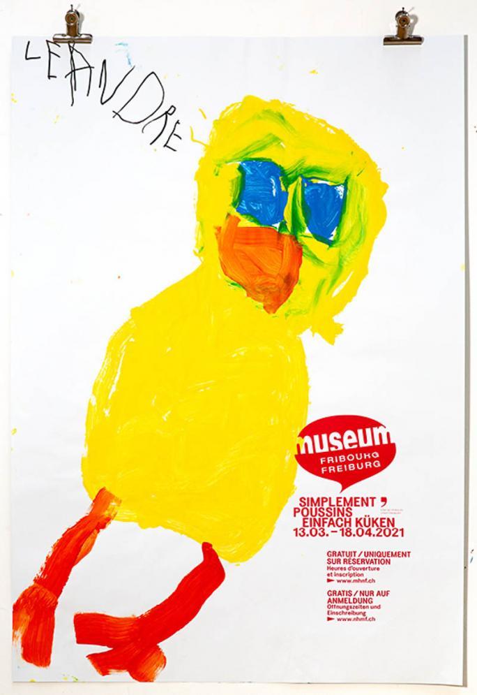 """Une des affiches de l'exposition """"Simplement Poussins""""_84"""