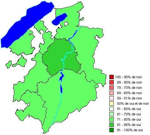 Résultats par districts: Loi sur la péréquation financière intercommunale (LPFI)