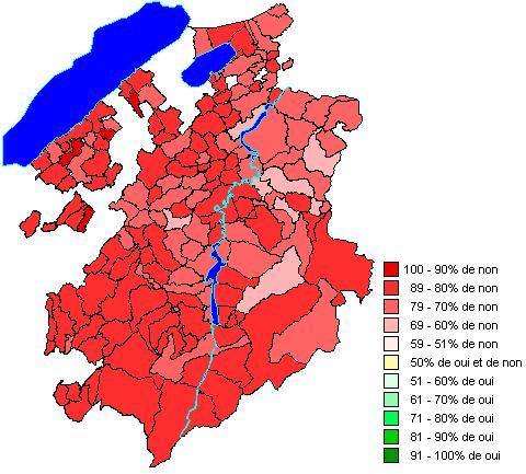 Ergebnisse nach Gemeinden: Änderung des Bundesgesetzes über die Krankenversicherung (Managed Care)