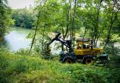 Vorbereitungsarbeiten, Fällen der Bäume, Juli 2011