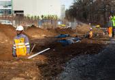 Bau des Zugangs zum Standort und der Baustelle, Januar-Juni 2012