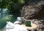 Absenkung des Wasserspiegels für die Aushubarbeiten