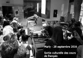 Demonstration in einer Typographie-Werkstatt