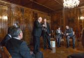 Son Excellence Monsieur David Jalagania et Georges Godel, Président du Conseil d'Etat