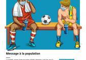 Au football on se passe le ballon, pas le virus!