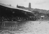 Match de waterpolo aux championnats suisses de natation, Bains de la Motta, Fribourg, 1928