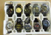 Lot de 35 montres de marque Carbon 14
