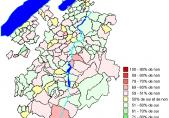 Ergenisse nach Gemeinden: Volksinitiative vom 18. Dezember 2007 «Schluss mit uferlosem Bau von Zweitwohnungen!»
