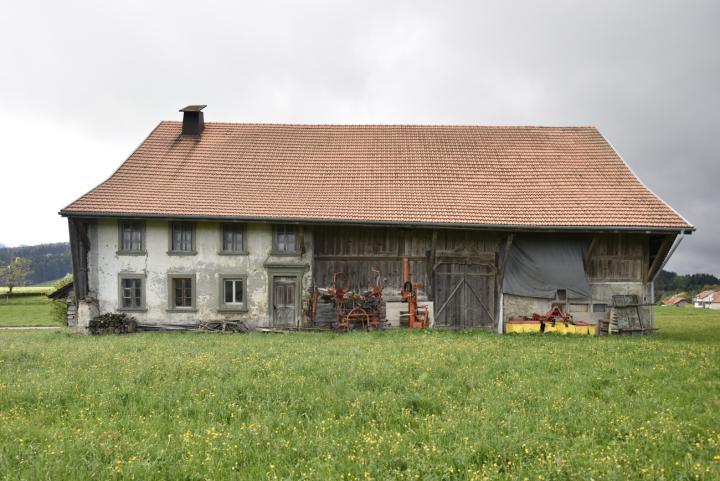 Vaulruz, 1841-1843 für François Pittet in Ponts d'Avau errichtetes Bauernhaus.