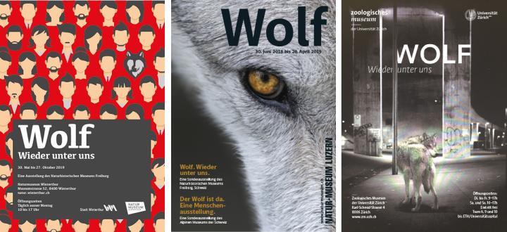 Affiches des différentes expositions Loup - De retour parmi nous