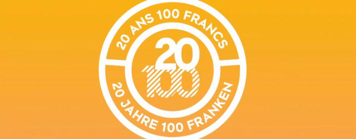 20 ans 100 francs / 20 Jahre 100 Franken