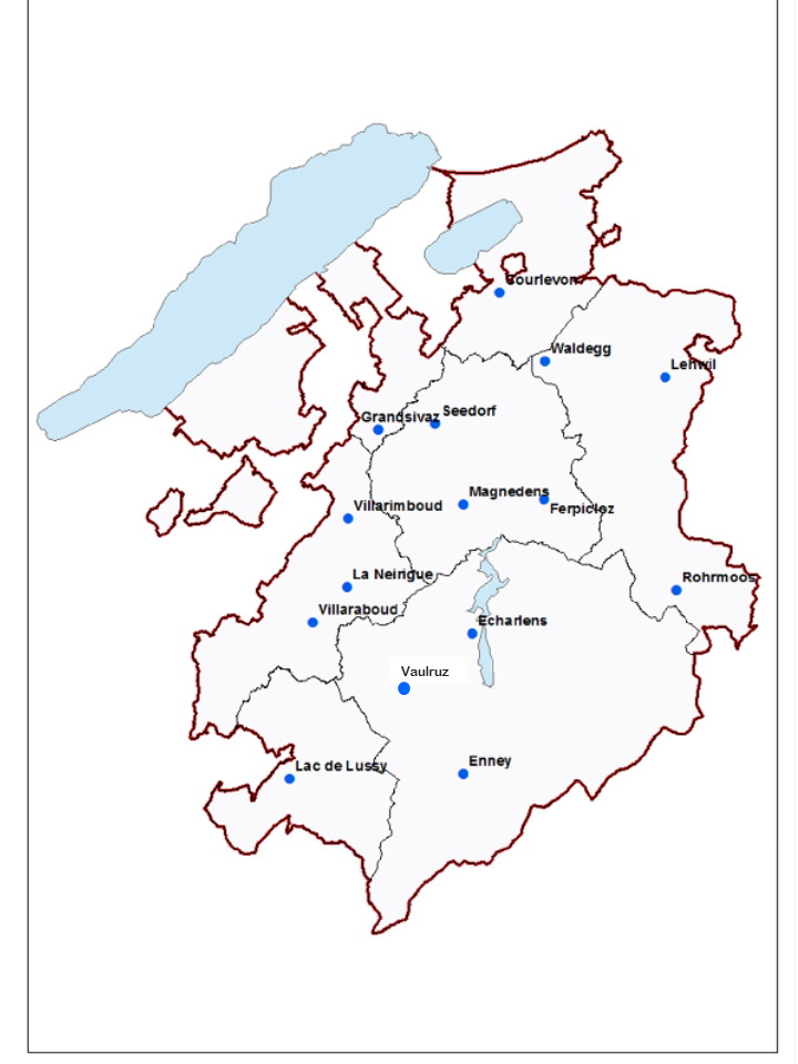 Standorte der Schutzzäune im Kanton Freiburg