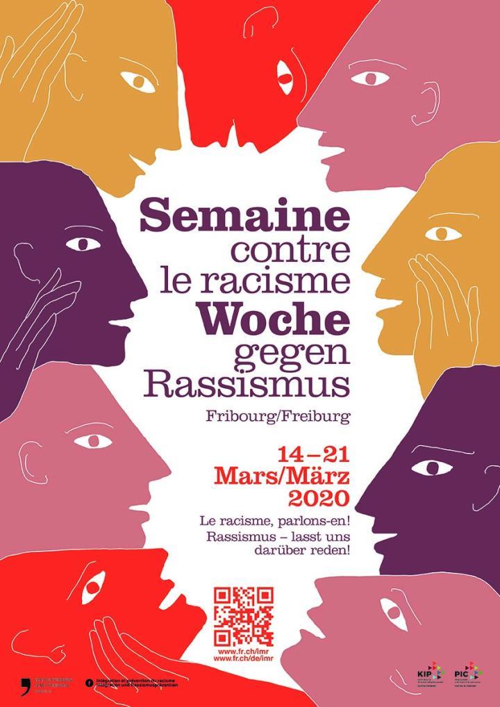 Affiche semaine d'action contre le racisme 2020