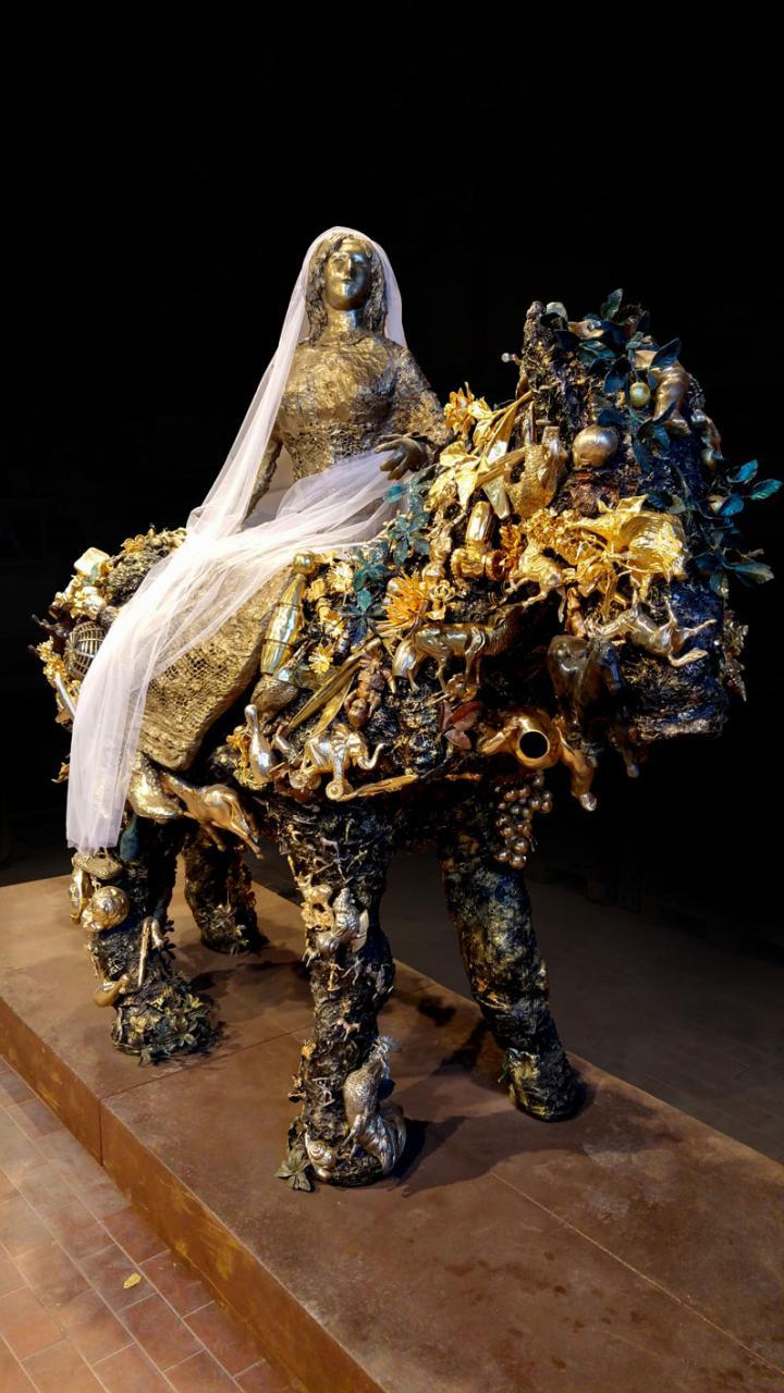 Niki de Saint Phalle, La mariée à cheval, copyright SKKG Christian Kunz, 1997