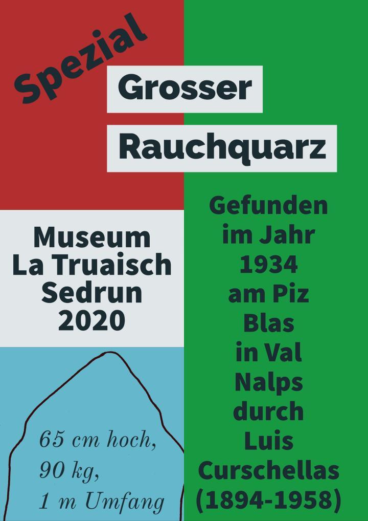 Plakat zur Sonderausstellung im Museum La Truaisch