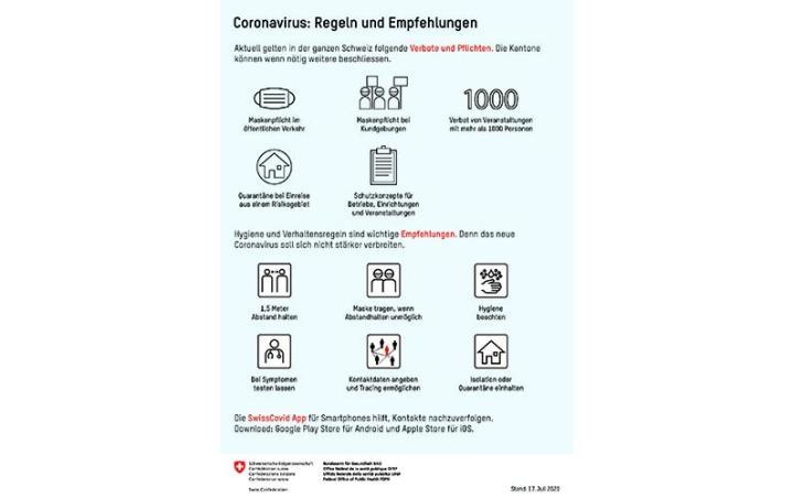 Plakat «Regeln_Empfehlungen»