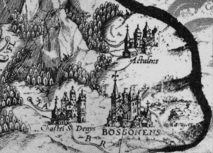 Carte ancienne, Bossonnens