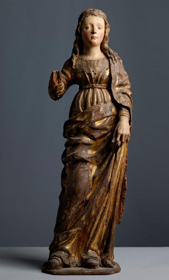 Jugendliche Heilige, um 1500