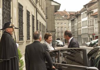 Herr Botschafter Michael Matthiessen und Danielle Gagnaux-Morel (Staatskanzlerin)