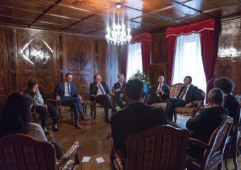 Le Conseil d'Etat et l'Ambassadeur Michael Matthiesse