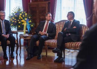 Ambassadeur Michael Matthiessen et Georges Godel (Président du Conseil d'Etat)