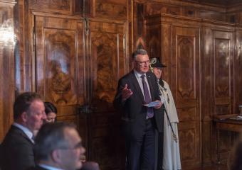 Georges Godel, président du Conseil d'Etat