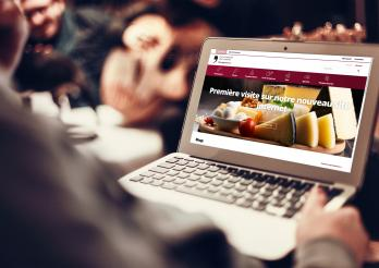 Das Foto zeigt die Website des Ladens