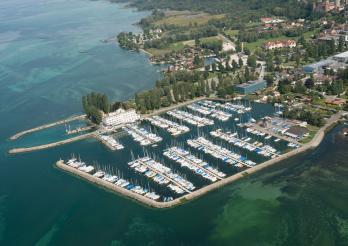 Hafen von Estavayer