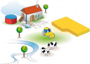 Entwässerung für Landwirtschaftsbetriebe