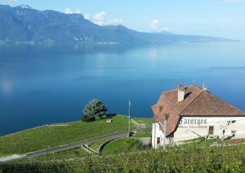 45/5000 Das Grande Maison des Faverges und der Genfer See