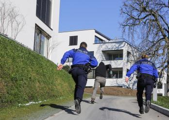 Intervention Police cantonale Fribourg