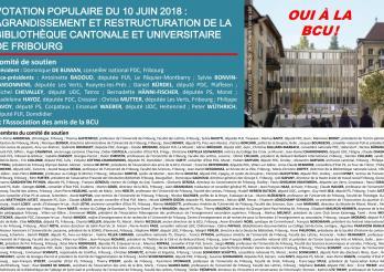 Comité de soutien de la Bibliothèque cantonale et universitaire Fribourg