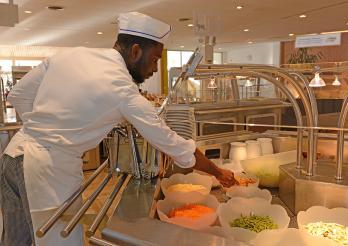 Vorbereitung des Buffets