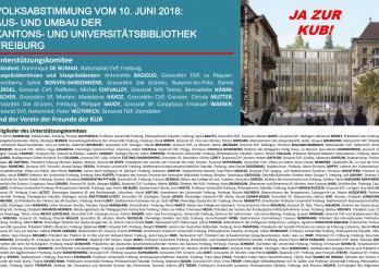 Unterstützungskomitee der Kantons- und Universitätsbibliothek Freiburg