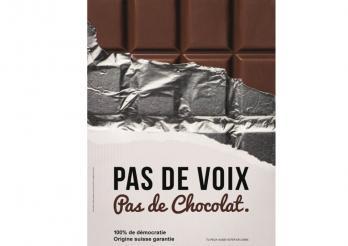 Affiche du concours CinéCivic : Pas de voix, pas de chocolat