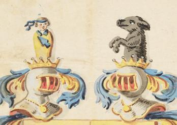 Wappen Techtermann (1819, Detail