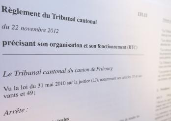 Règlement du Tribunal cantonal