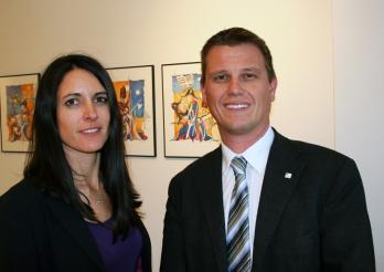 Sophie Perrier et Marc Valloton, vice-chanceliers d'Etat