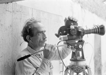 Jacques Thévoz hinter der Kamera, 1968-1969. Kantons- und Universitätsbibliothek - Sammlung Jacques Thévoz