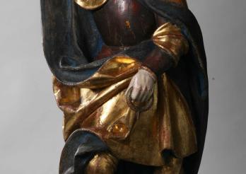 Sculpture en bois St-MIchel - Holzskulptur St. Michael