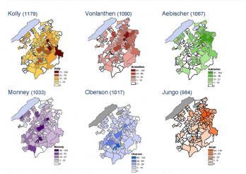 Die häufigsten Nachnamen im Kanton Freiburg