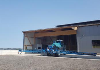 Photo montrant une installation de traitement des effluents phytosanitaires