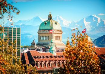 Vue de Berne et du Palais fédéral