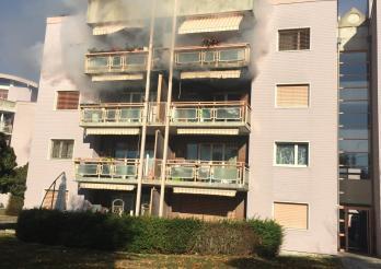 Incendie dans un immeuble à La Tour-de-Trême