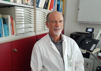 Dr. André Schaub, zuständiger Arzt des Pflegeheims Gibloux und Allgemeinarzt in Posieux