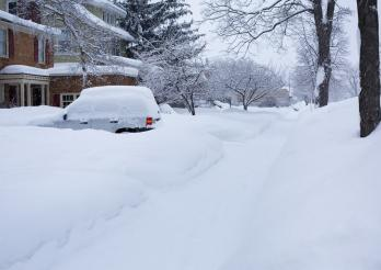 Ergiebige Schneefälle