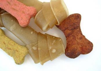 Das photo zeigt Leckerlis für Hunde
